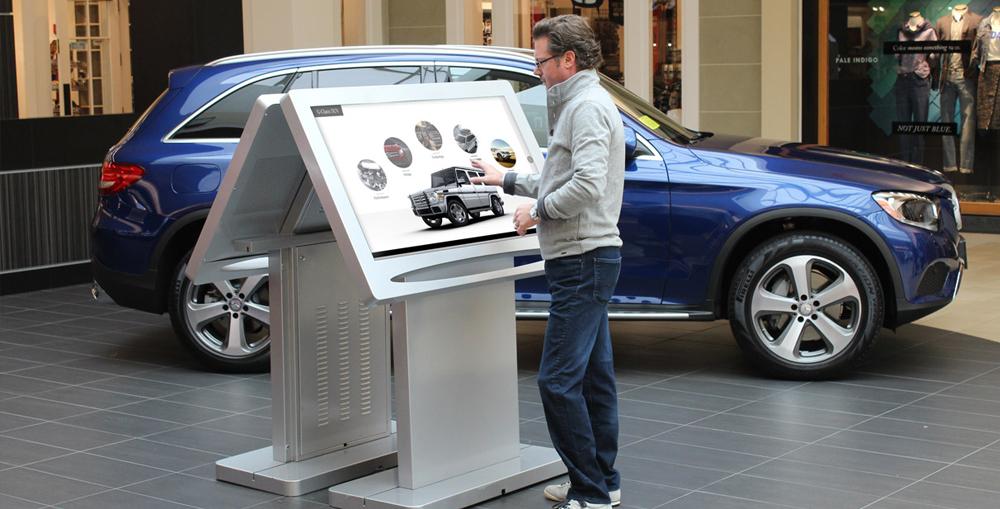 Self-Service Car Rental Interactive Kiosk