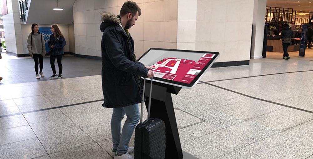 Self-Service Way Finding Interactive Kiosks